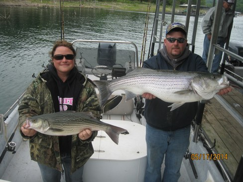 Beaver lake striped bass fishing report 05 17 2014 for Beaver lake fishing guides