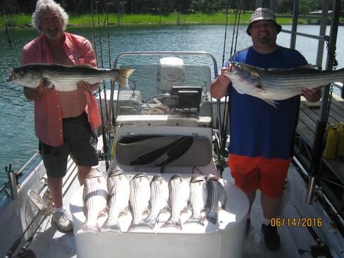 Beaver lake striped bass fishing report 06 14 2016 for Beaver lake arkansas fishing report