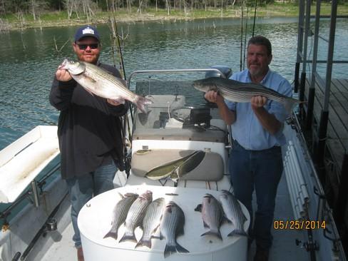 Beaver lake striped bass fishing report 05 25 2014 for Beaver lake fishing guides