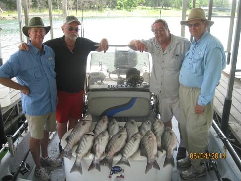 Beaver lake striped bass fishing report 06 04 2014 for Beaver lake arkansas fishing report
