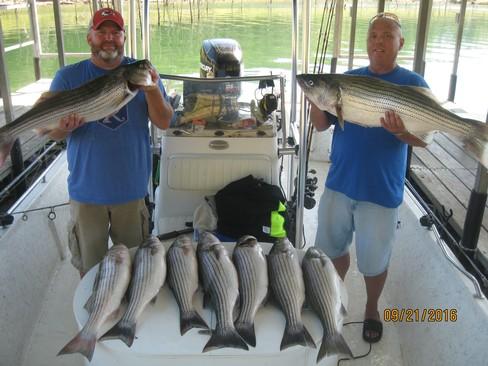Beaver lake striped bass fishing report 09 21 2016 for Beaver lake fishing guides