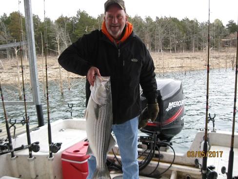 Beaver lake striped bass fishing report 03 05 2017 for Beaver lake fishing guides