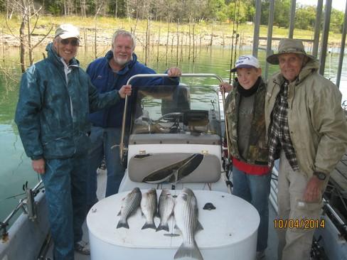 Beaver lake striped bass fishing report 10 04 2014 for Beaver lake arkansas fishing report