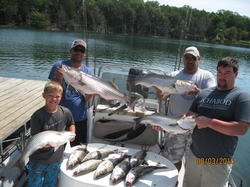 Beaver lake striped bass fishing report 08 03 2015 for Beaver lake fishing guides