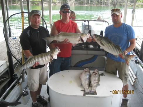 Beaver lake striped bass fishing report 08 11 2015 for Beaver lake arkansas fishing report