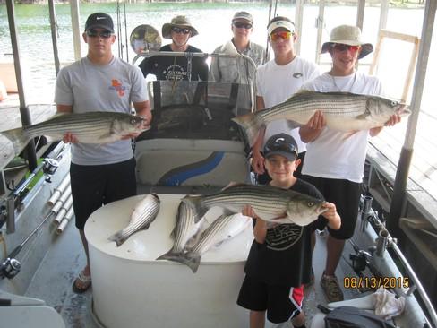 Beaver lake striped bass fishing report 08 13 2015 for Beaver lake arkansas fishing report