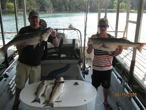 Beaver lake striped bass fishing report 08 15 2015 for Beaver lake arkansas fishing report