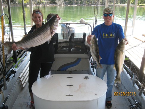 Beaver lake striped bass fishing report 08 20 2015 for Beaver lake striper fishing