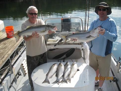 Beaver lake striped bass fishing report 08 22 2015 for Beaver lake fishing guides