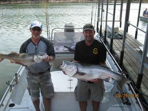 Beaver lake striped bass fishing report 08 29 2015 for Beaver lake fishing guides