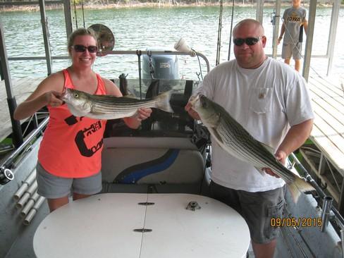 Beaver lake striped bass fishing report 09 05 2015 for Beaver lake fishing guides