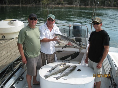Beaver lake striped bass fishing report 09 07 2015 for Beaver lake fishing guides