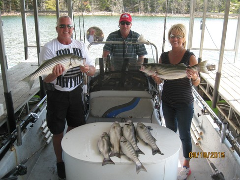 Beaver lake striped bass fishing report 09 18 2015 for Beaver lake striper fishing