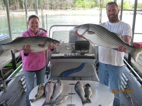 Beaver lake striped bass fishing report 04 27 2016 for Beaver lake fishing guides