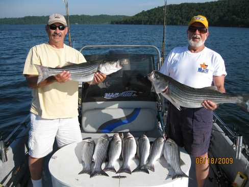Beaver lake striped bass fishing report 06 18 2009 for Beaver lake fishing guides