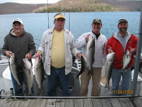Beaver lake striped bass fishing report 11 08 2009 for Beaver lake arkansas fishing report