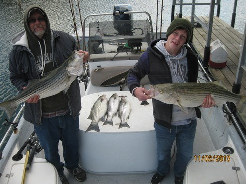 Beaver lake striped bass fishing report 11 02 2013 for Beaver lake striper fishing