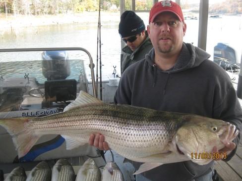 Beaver lake striped bass fishing report 11 02 2013 for Beaver lake fishing guides