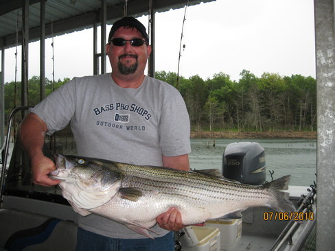 Beaver lake striped bass fishing report 07 06 2010 for Beaver lake striper fishing