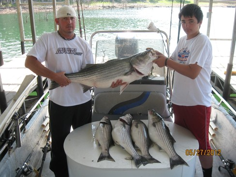 Beaver lake striped bass fishing report 05 27 2012 for Beaver lake striper fishing