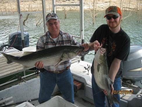 Beaver lake striped bass fishing report 10 22 2012 for Beaver lake fishing guides