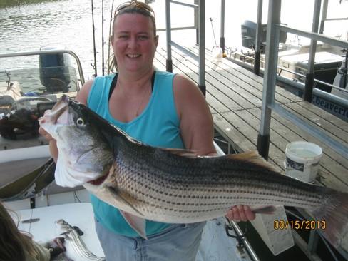 Beaver lake striped bass fishing report 09 15 2013 for Beaver lake fishing guides