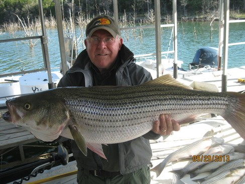 Beaver lake striped bass fishing report 09 29 2013 for Beaver lake striper fishing