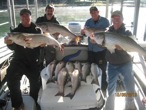 Beaver lake striped bass fishing report 10 06 2013 for Beaver lake fishing guides
