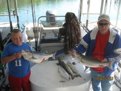 Beaver lake striped bass fishing report 10 07 2013 for Beaver lake fishing guides